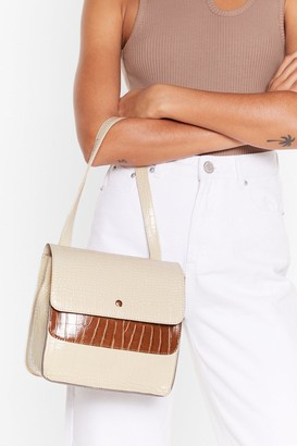 Nasty Gal WANT Ain't All Black and White Handbag