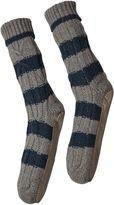 White Stuff Cable Slipper Sock
