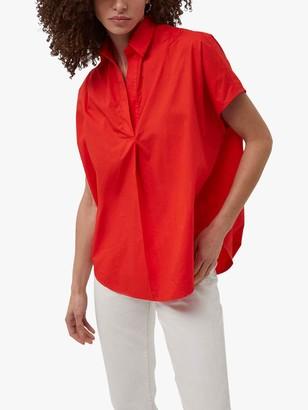 French Connection Cele Rhodes Poplin Short Sleeve Shirt
