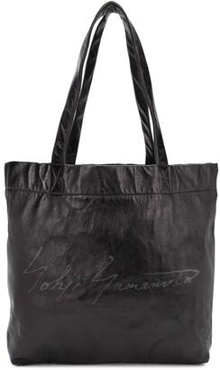 Discord Yohji Yamamoto Open-Top Logo Tote Bag