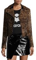 Isabel Marant Eston Fur Asymmetrical Jacket