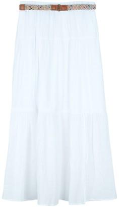 Amy Byer Girls 7-16 IZ Maxi Skirt with Side Front Slit & Belt