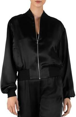 ATM Anthony Thomas Melillo Silk Charmeuse Cargo Jacket