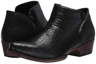 Roper Sofia Caiman (Black Faux Caiman Leather) Women's Pull-on Boots