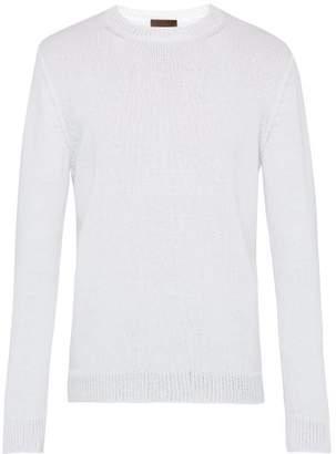 Altea Crew Neck Cotton Blend Sweater - Mens - White