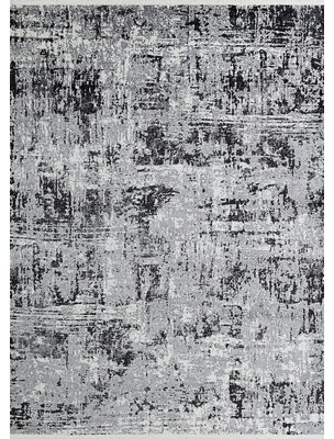 "Orren Ellis Erdinc Abstract Gray/Black Area Rug Rug Size: Runner 2'6"" x 7'10"""