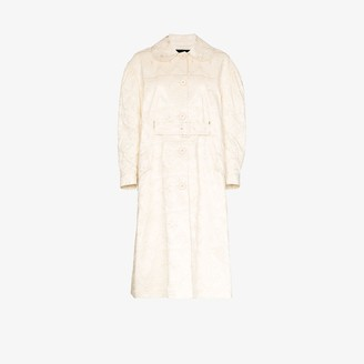 Simone Rocha Flared Brocade Duster Coat