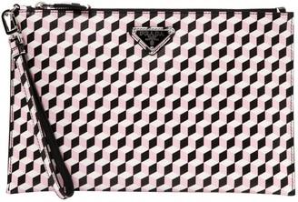 Prada Pink Leather Clutch bags