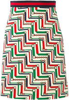 Gucci patterned pencil skirt - women - Silk/Acetate/Wool - 38