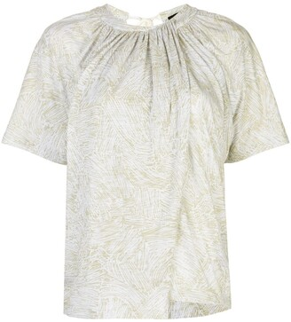 Proenza Schouler palm printed overlapped T-shirt