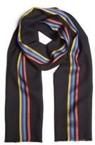 Paul Smith Men's Central Stripe Wool & Silk Scarf