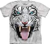 The Mountain Big Face Tribal White Tiger T-Shirt
