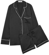 Equipment Lillian Washed-silk Pajama Set - Black