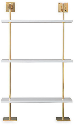 Port 68 Marais 3-Tier Wall Shelf - White/Gold