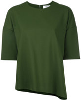 Enfold half sleeve asymmetric top - women - Polyester/Polyurethane/Rayon - 36