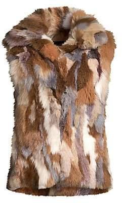 Adrienne Landau Women's Multicolor Fox Fur Vest