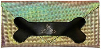 Vivienne Westwood Metallic Leather Clutch bags