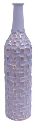 Element 24-inch Gray and Gold Loops Resin Vase