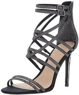 GUESS Women's Pretier5 Heeled Sandal, Pewter, 7.5 Medium US