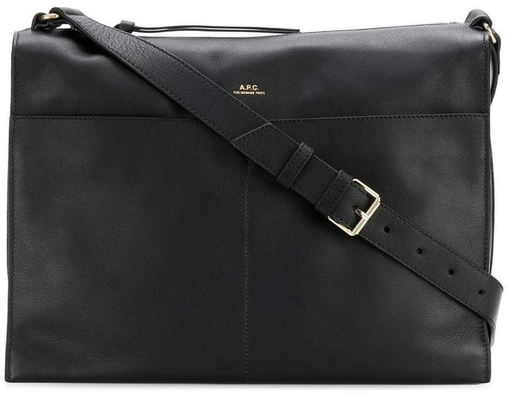 A.P.C. logo embossed shoulder bag