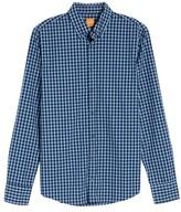 BOSS ORANGE Men's Trim Fit Plaid Shirt