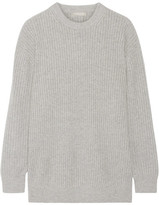 Michael Kors Oversized Ribbed Cashmere Sweater - Gray