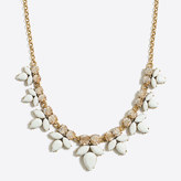 J.Crew Factory Gemstone petal necklace