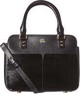 Orla Kiely Scallop Pocket Leather Jeanette Bag - Black