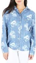 KUT from the Kloth Floral Chambray Top