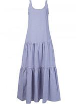 Lisa Marie Fernandez plaid ruffled mid-length dress
