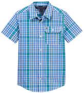 Tommy Hilfiger Short Sleeve Chris Yarn Dye Plaid Shirt (Big Boys)