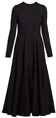 Valentino Women's Crepe Couture Wool & Silk Circle Skirt Dress