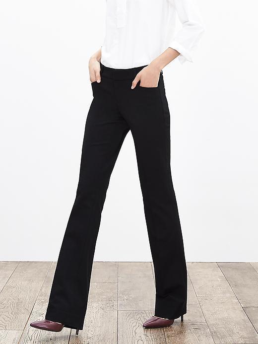Banana Republic Sloan-Fit Black Trouser