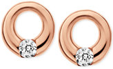 Skagen Elin Rose Gold-Tone Circle Stud Earrings