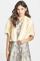 Eliza J Women's Faux Fur Capelet