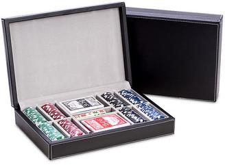 One Kings Lane Leather Poker Game Set - Black