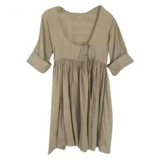 Madame à Paris Green Cotton Dress for Women