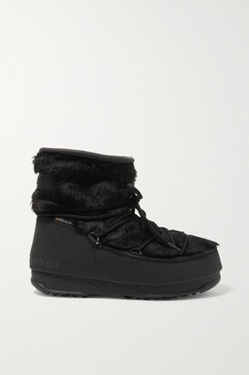 Moon Boot Monaco Rubber And Faux Fur Snow Boots