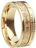 BORU Celtic Symbol Wedding Band Celtic Cross 10k White Size 8