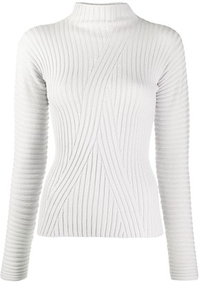 Emporio Armani Ribbed-Knit Wool Jumper