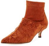 Tibi Jean Velvet Point-Toe Boot