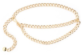 B-Low the Belt Gissel Model Gold Color Chain Belt