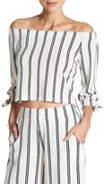 Free Press 3/4 Sleeve Off-The-Shoulder Blouse