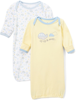 Yellow & Blue Planes Gown Set - Infant