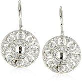 KC Designs Estate 14k White Gold Diamond Small Disc Earrings