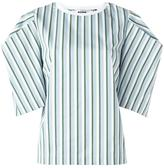 MSGM oversized sleeves striped blouse - women - Cotton - 44
