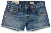 Ralph Lauren Paint-Splattered Cotton Jean Shorts, Toddler & Little Girls (2T-6X)