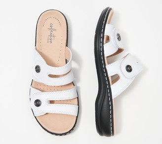 Clarks Collection Leather Slide Sandals - Leisa Nala
