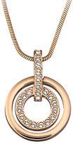 Swarovski Rose Gold-Plated Circle Pendant Necklace