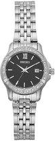 Seiko Women's Crystal Stainless Steel Watch